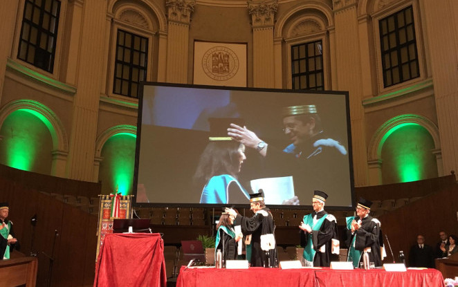 Catia Bastioli is the honorary Doctorate of the Alma Mater