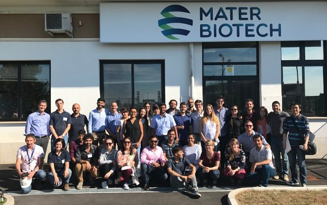 30 students from Delft University of Technology visiting the industrial plant of MATER-BIOTECH