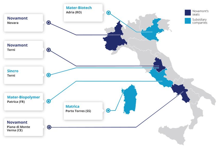 Novara Italy Map.Novamont In Italy