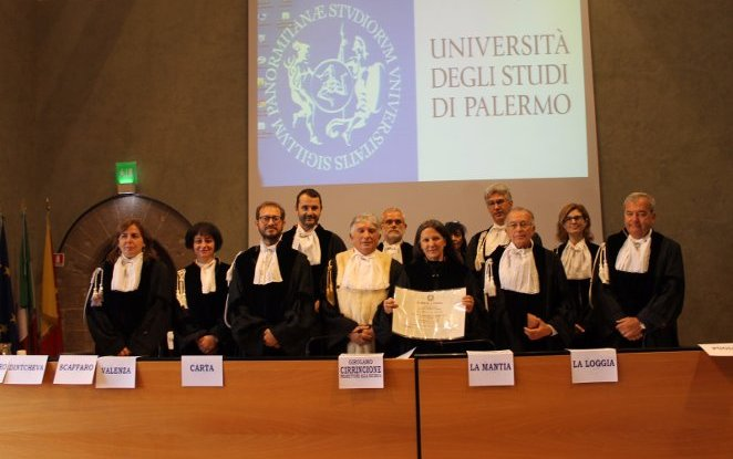 THE UNIVERSITY OF PALERMO CONFERS A DEGREE IN