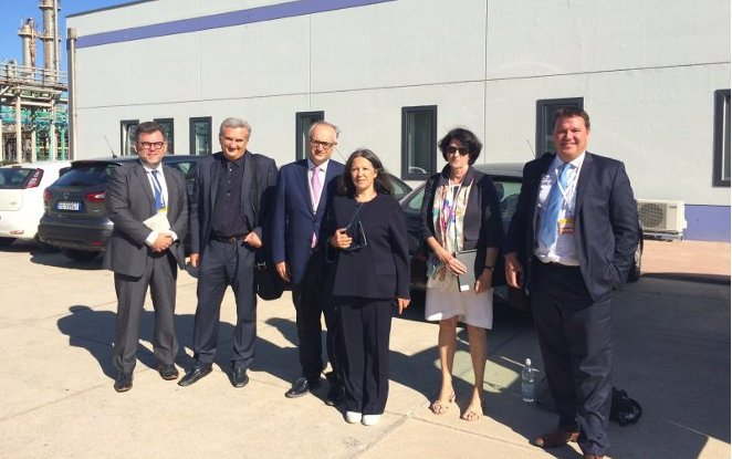 European Bioeconomy representatives visit Matrìca biorefinery as a concrete example of NOVAMONT's model